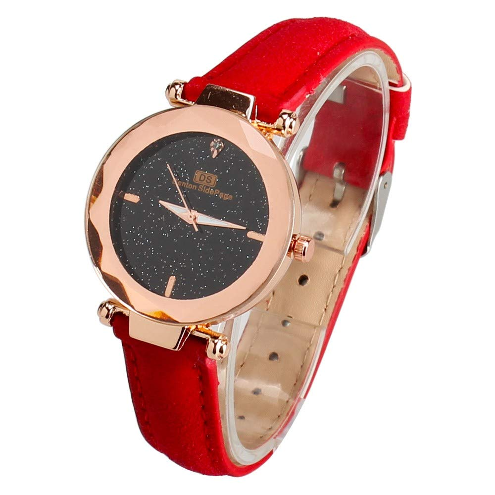 Gorday Women Watches Sale Clearance,Women Analog Quartz Watch Fashion Wrist Watch Casual Business Bracelet Watches Gift,Round Dial Case Leather Band Watches
