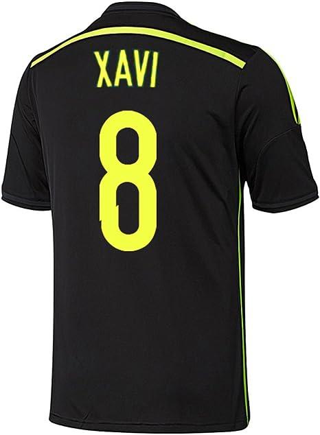 adidas Xavi #8 España Camiseta 2da Copa Mundial 2014 (L): Amazon.es: Deportes y aire libre