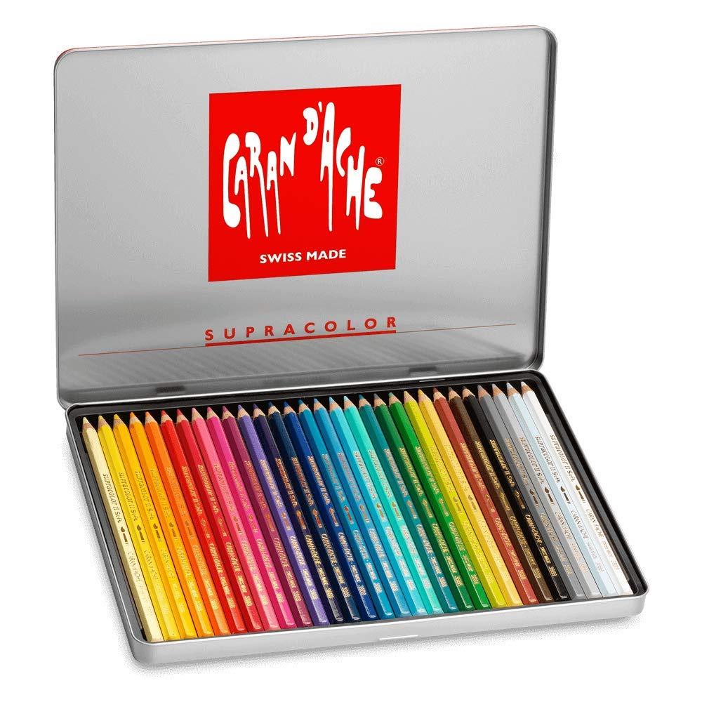 Caran d'Ache Supracolor Metal Box Set Of 30 by Creative Art Materials