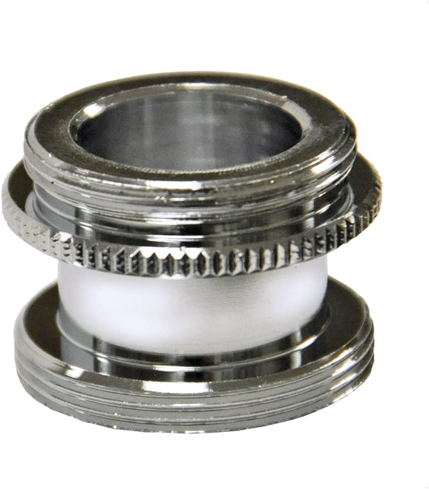 """Danco 10517 9D000 Chrome Male Aerator Adapter for Speakman Faucets, 15/16""""-27M X 55/64""""-27M, Brass"""