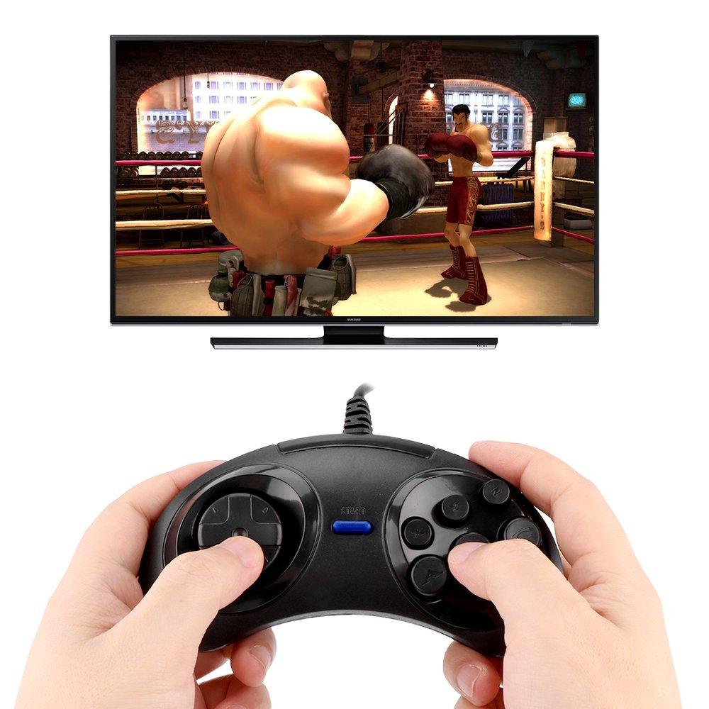 TiooDre USB Xbox Game Controller Wired Gamepad del Gioco di Joypad della Barra per Microsoft e PC Windows (Red)