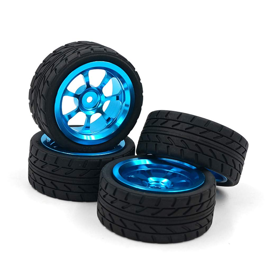 Fcostume 4 St/ück RC Auto R/äder f/ür Wltoys 1:18 A959-B A979-B A959 A969 Alufelgen und Reifen RC Car R/äder Blau
