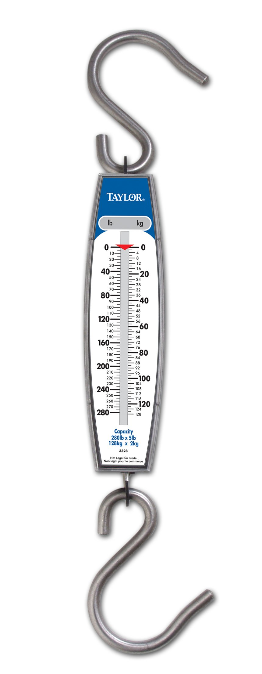 Taylor Precision Products Hanging Scale (280-Pound/128-Kilogram)