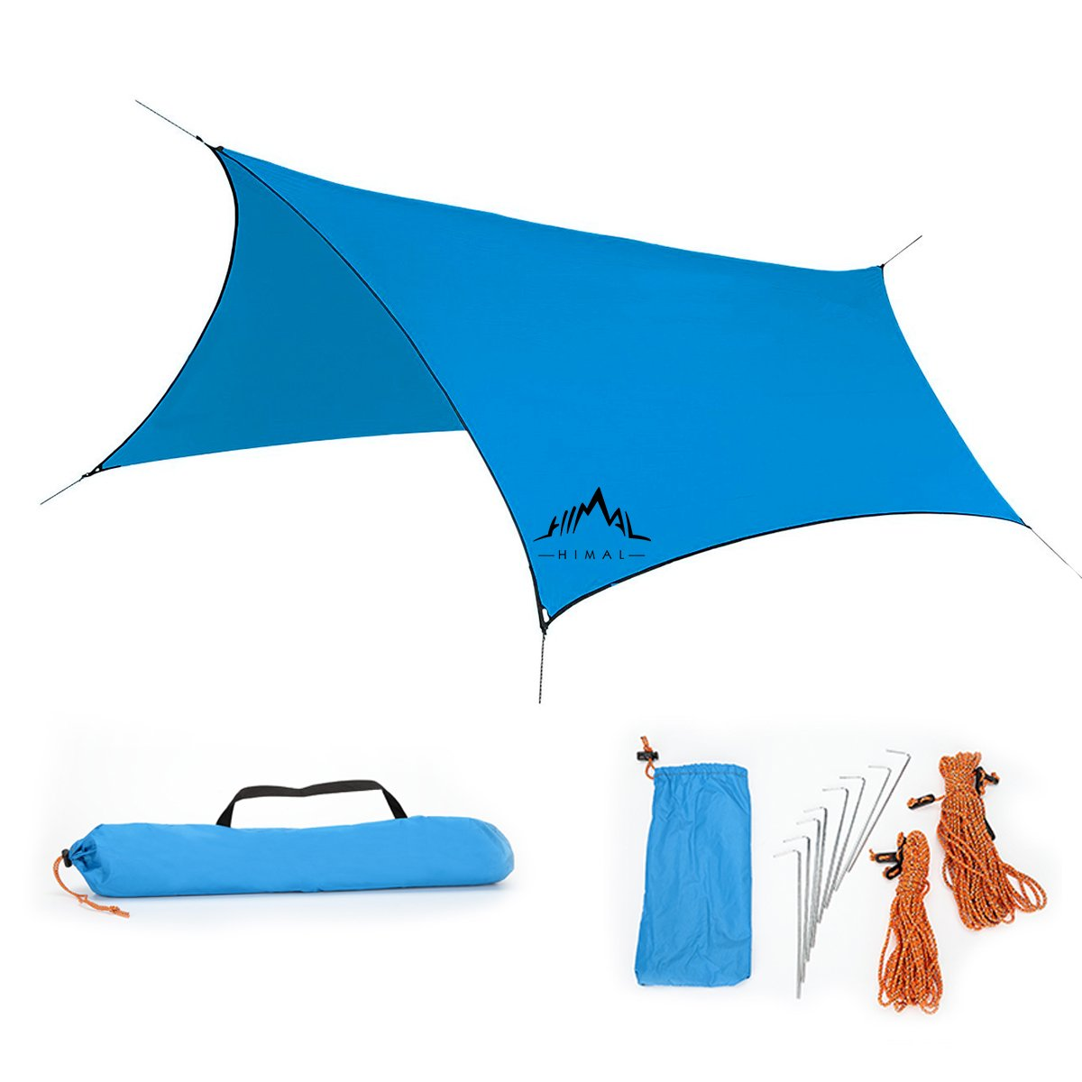 Amazon.com  [C&ing Essential] Himal 10ftX8.5ft Waterproof Sunshade Tent Rain Fly Tent Tarp (Blue)  Sports u0026 Outdoors  sc 1 st  Amazon.com & Amazon.com : [Camping Essential] Himal 10ftX8.5ft Waterproof ...