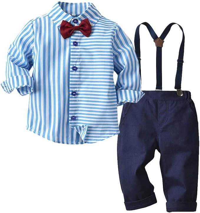 Baby Junge Taufe Kleidungttlove Kleinkind Boys Gentleman Fliege Krawatte Hemd T Shirt Tops Hosenträger Hosen Outfits Bekleidung Setkinderkleidung