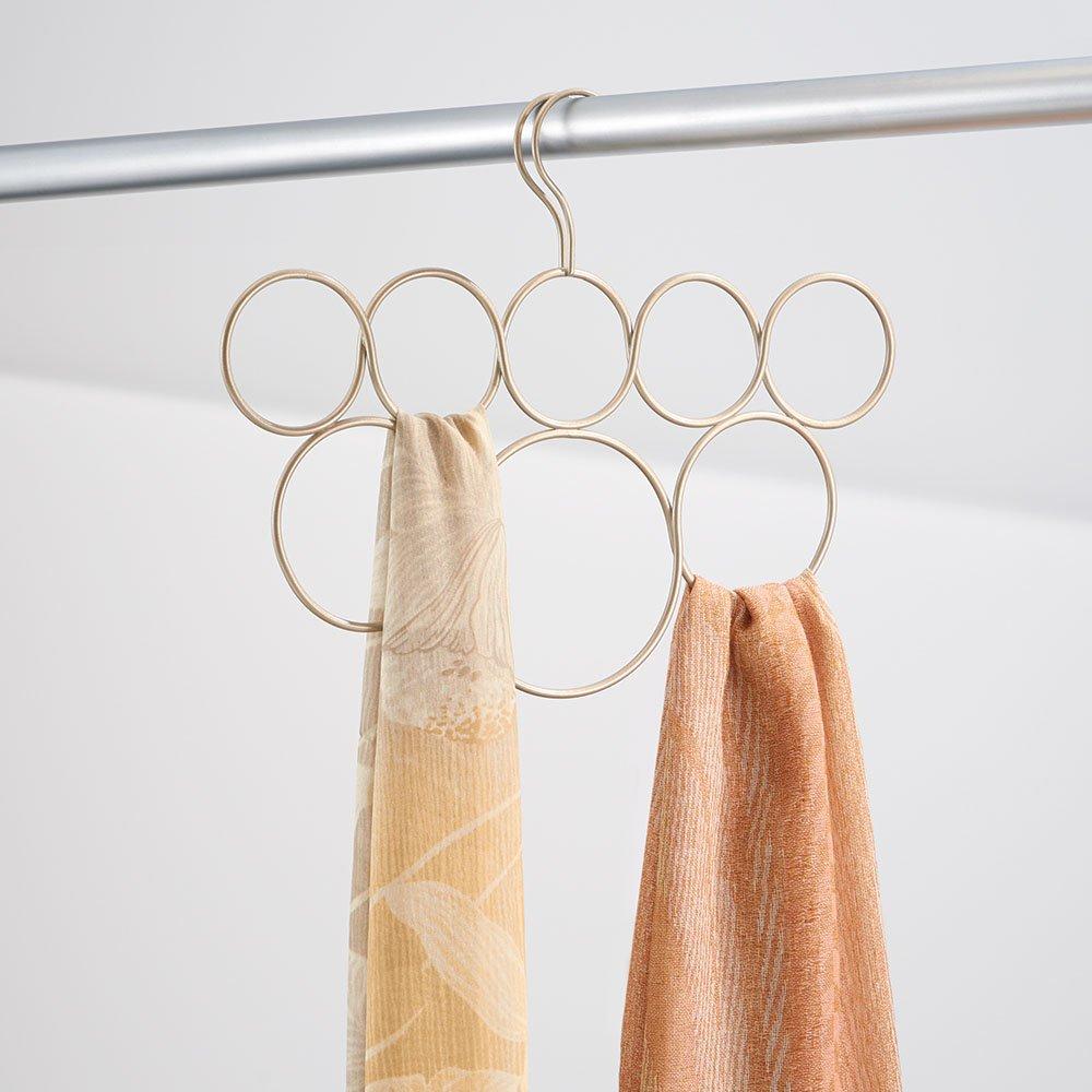 couleur or perl/é etc. rangement suspendu en m/étal pour /écharpes ceintures cravates pashminas InterDesign Classico cintre foulard avec 8 boucles