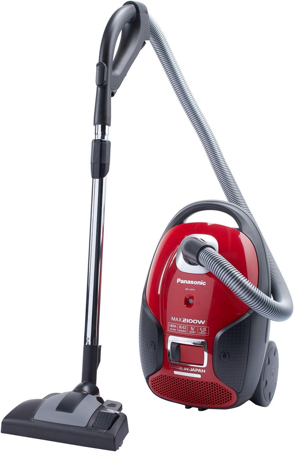 Panasonic 2100W, 6L Capacity, Vacuum Cleaner-Red (Model MC-CJ915R747)
