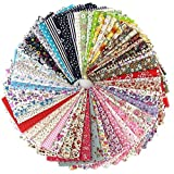 60 Pcs Fabric Cotton 100% Printed Boundle Patchwork Squares of 10*10cm