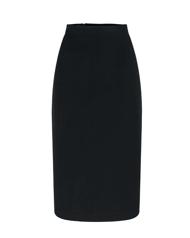 Artigiano Womens Ladies Italian Two Way Stretch Bias Skirt Stretch Side Zip