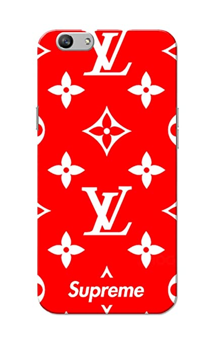 best service c6026 b33a8 Oppo F1s - LV Supreme Slim Fit Hard Back Case Cover: Amazon.in ...