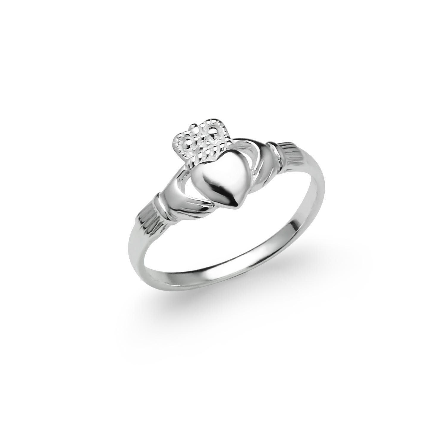 River Island Jewelry - Sterling Silver Irish Claddagh Friendship and Love Celtic Ring Ladies Women's Size 5 6 7 8 9 (9)