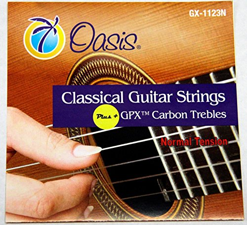 Oasis GPX+ Classical Guitar Carbon Trebles Normal Tension by Oasis
