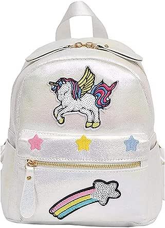Women's Backpack Sweet Applique Decor Patchwork Fashion Back Bag