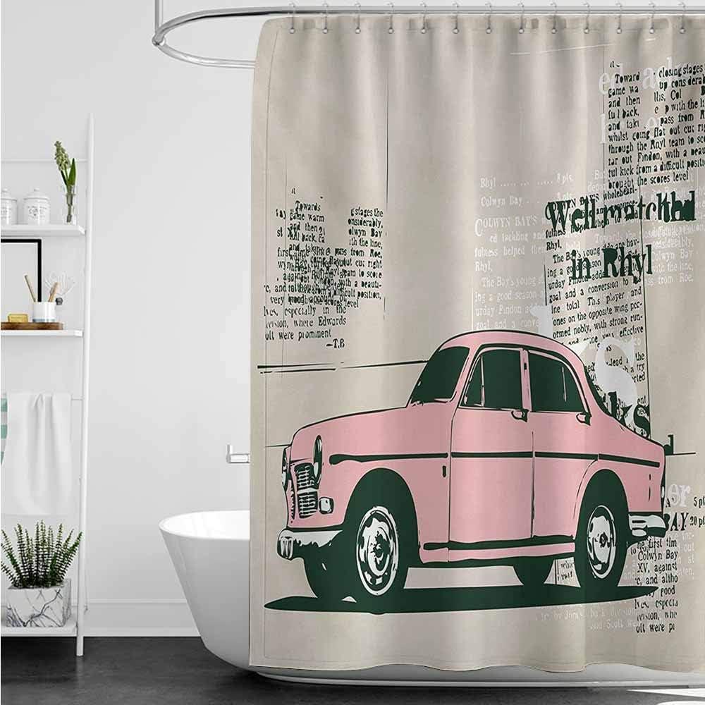 AndyTours - Cortinas para mampara de Ducha, diseño Vintage de ...