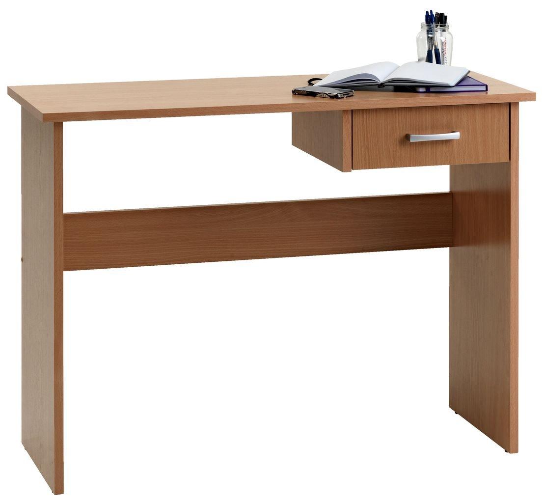 JYSK Karup Escritorio de madera de haya con 1 cajón: Amazon.es: Hogar
