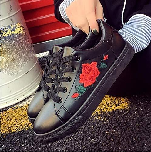 Stringate Donna Sneakers Scarpe Sneaker Sportive Ricamo Vulcanizzate Ysfu Da Cinghie qwIFCp