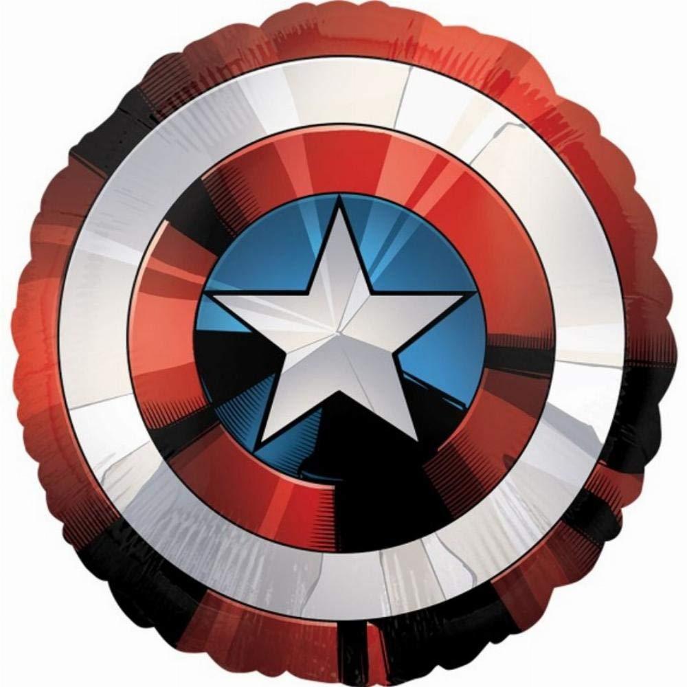 28' Captain America Avengers Shield Foil Balloon Amscan International 3484101