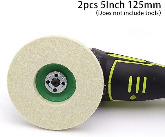3 mm Schaft 20 St/ück Polierscheiben und Wollfilzrollen aus Baumwolle Drehwerkzeug-Zubeh/ör Polierscheibe