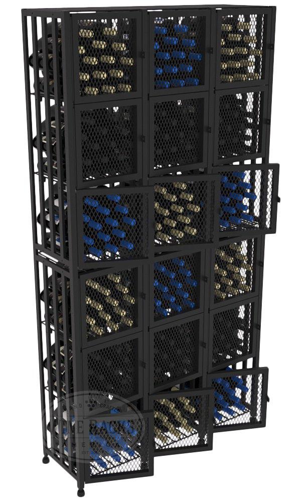 VintageView Case & Crate Metal Wine Rack Locker - Full Height - Capacity 288 Bottles