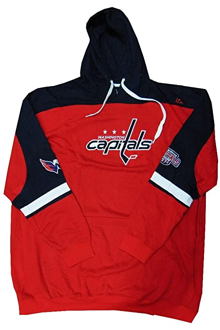 VF Washington Capitals NHL Mens Majestic Double Minor Hoodie Red Big   Tall  Sizes (2XT b37940f70