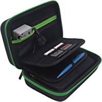 Carrying Case for New Nintendo 2DS XL and 3DS XL, Fits Wall Charger, 16 Game Cartridge Holders - Black/Green