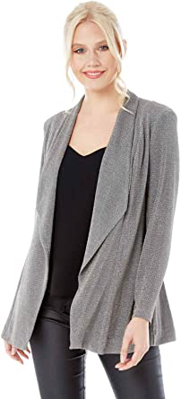 Roman Originals Women's Fluted Hem Jacket Ladies Fashion Jackets for Smart Formal Casual Everyday Party Business Work Office Wear
