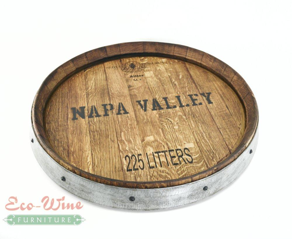 Wine Barrel Lazy Susan Napa Valley
