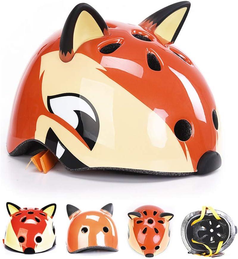 Yililay Kids Helmet Cartoon Bear Sports Helmet for Children Breathable Cycling Helmet Skating Protective Gear