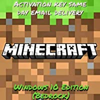 Minecraft Windows 10 Edition Code Product Key (Email Delivery - No CD/DVD)