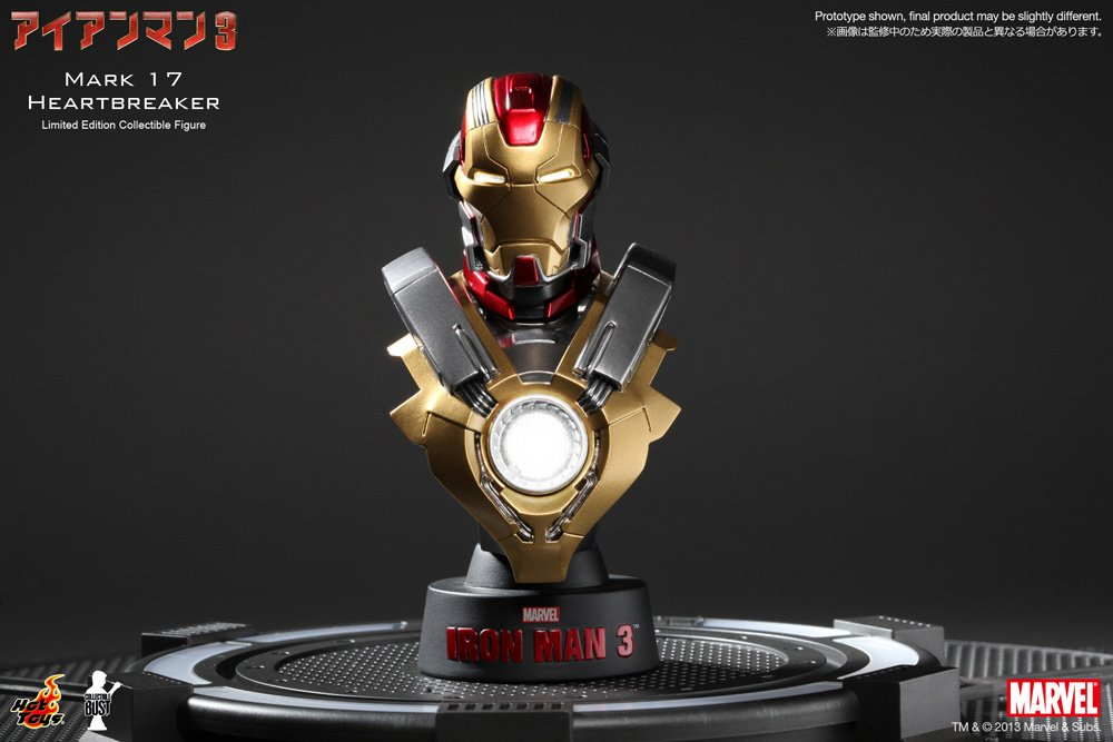 Amazon.com: Marvel Iron Man 3 Mark XVII 17 Heartbreaker 1/6 Collectible  Bust By Hot Toys: Toys U0026 Games