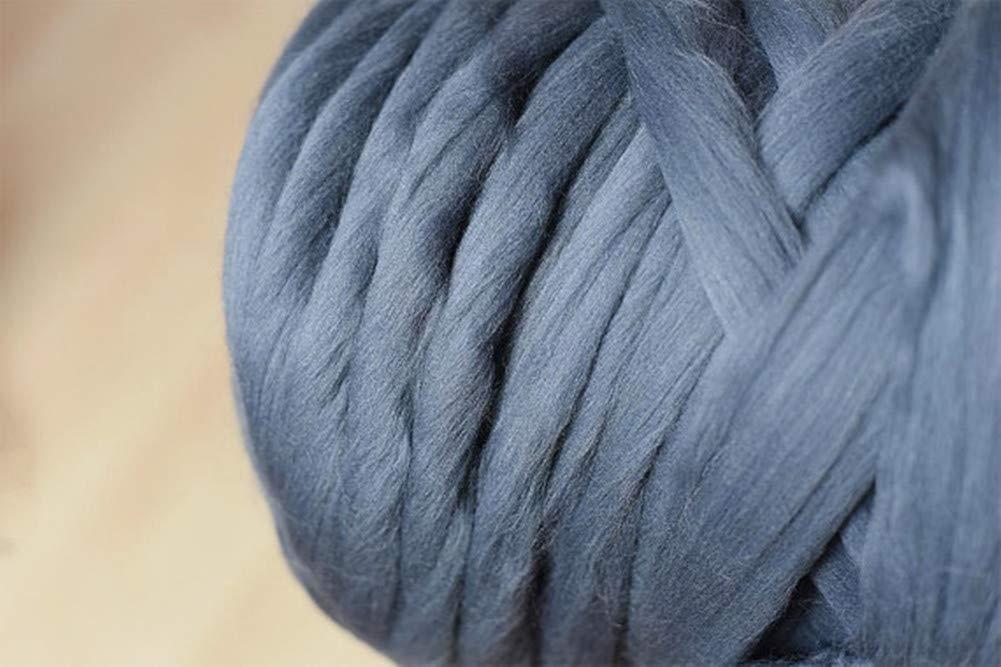 Chunky Yarn Super Bulky Giant Wool Yarn Roving for Arm Knitting Extreme Knitting (4.4lbs(2kg), Dark Grey) by zhengjun (Image #2)