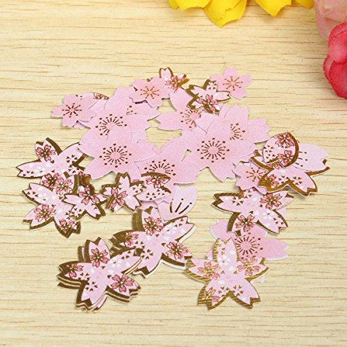 - DAVITU DIY Scrapbooking Paper Cherry Blossoms Diary Stickers Wedding Album Plum Flower Decoration - (Color: Pink)