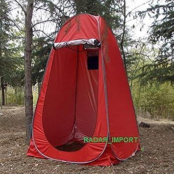 G.E. Tienda de campaña baño WC Ducha Vestuario Impermeable Camping desplegable Pop Up (Rojo): Amazon.es: Deportes y aire libre