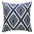 SLOW COW 18x18 inches Cotton Modern Family Embroidery Cushion Pillow Covers, Geometric Zipper Pillow Case Decorative Throw Pillows for Living Room.