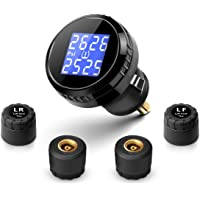Fullele Wireless Tire Pressure Monitoring System with 4 Sensors