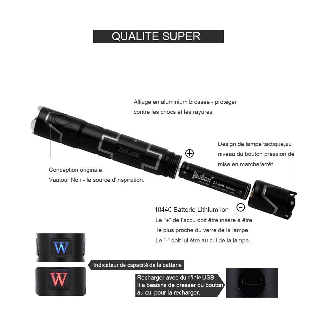 Tactique Cree V5 Usb Wuben Puissante Haute Torche Lampe Qualité IEDeYWH29b