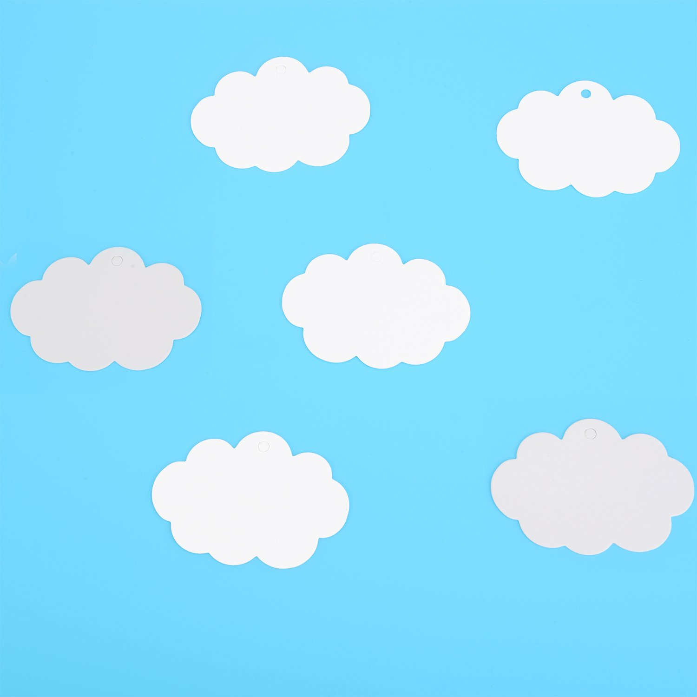 Blanco 100 Piezas de Etiquetas de Papel Kraft Etiquetas de Regalo Etiquetas Colgantes en Forma de Nube con 30 Metros de Cordel Natural