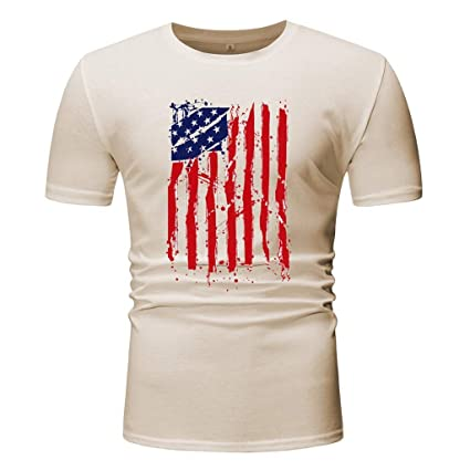81e25eeab Image Unavailable. Image not available for. Color: Men Slim Fit T-Shirt,Toponly  Boys Youth American Flag ...