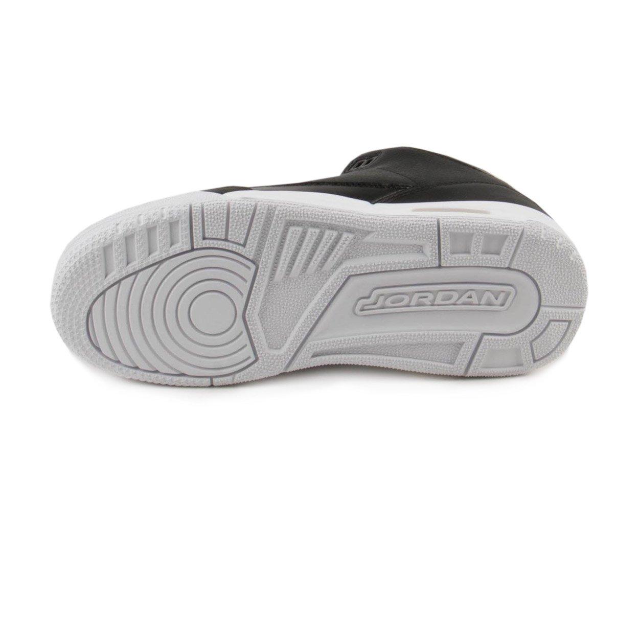 NIKE Jordan Air 3 Retro Bg Boys Basketball Shoes (7Y, Black/Black/White) by Jordan (Image #5)