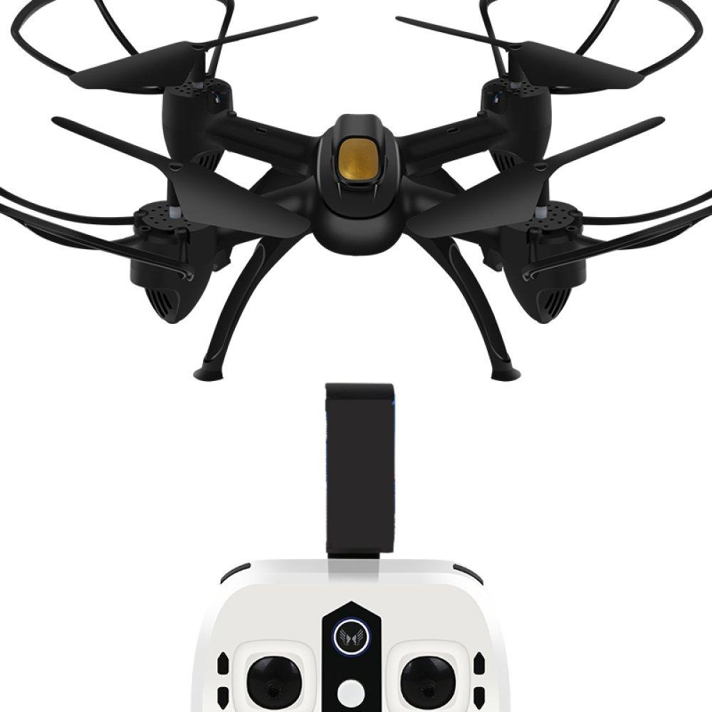 ZCXCC FPV RC Drone con HD Live Video WiFi Camera Y Modo Sin Cabeza 2.4GHz 6-Axis Gyro Quadcopter con Altitude Hold Y Un Solo Botón Take Off and Landing,3Batteries