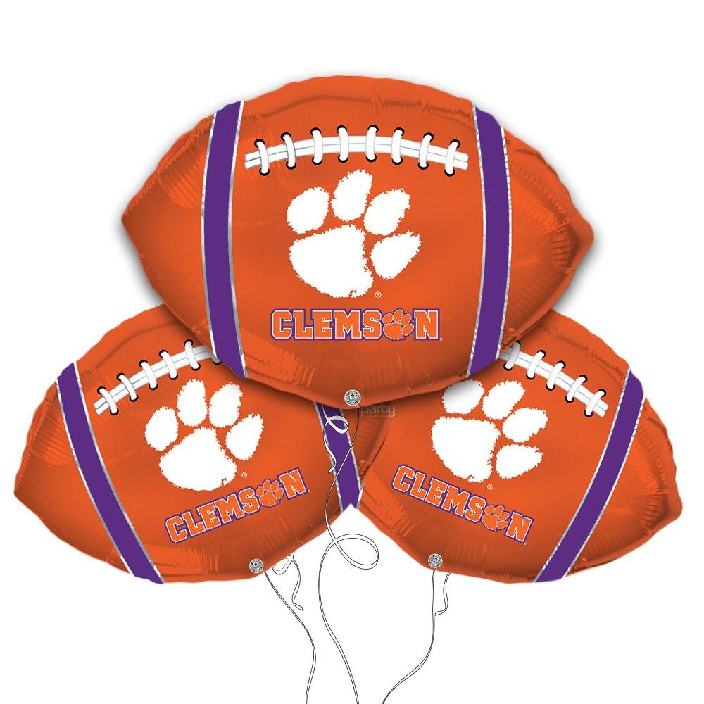 Clemson Football Shaped 18'' Mylar Balloon 3pk