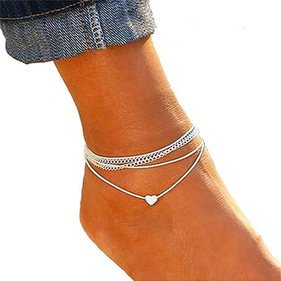bracelet cheville femme en argent