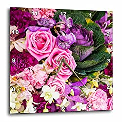 3dRose Danita Delimont - Flowers - Southeast Asia, Thailand, Bangkok, Colorful Flower Market Display - 10x10 Wall Clock (dpp_276971_1)