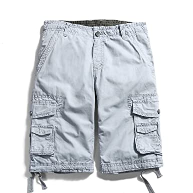 8314fbccb9 OCHENTA Men's Cotton Loose Fit Multi Pocket Cargo Shorts: Amazon.com ...