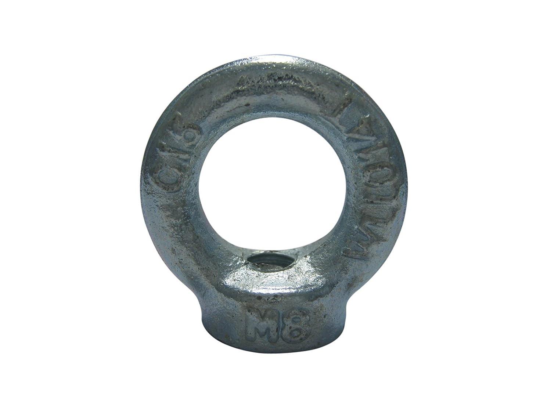 10 x Ringmutter Ringmuttern Ö senmutter M8 DIN 582 verzinkt C15 SAMWERK