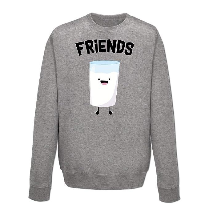 be359884c17ed Shirtcity Sudadera Best Friends Milk by  Amazon.es  Ropa y accesorios