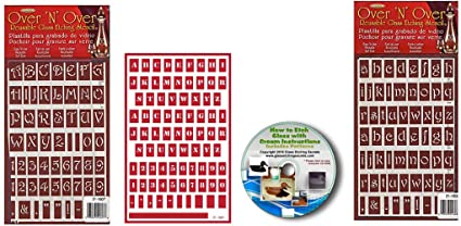 Amazon.com: Uppercase, Lowercase & Small Letter Stencils: 3 Pack