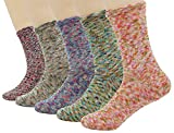 Bienvenu lady's 5 Pack Funky Cute Dress Crew Socks,Multicolor 3