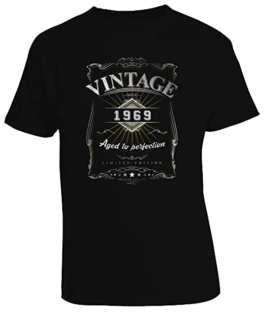 5e1587371 Vintage 1969 Aged to Perfection (Version 12) - 50th Birthday Gift/Present - Mens  T-Shirt: Amazon.co.uk: Clothing