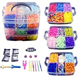 CO-Z 4800 Colorful Rubber Band Bracelet Loom Refill Kit Fun DIY for Kids w/Storage Case